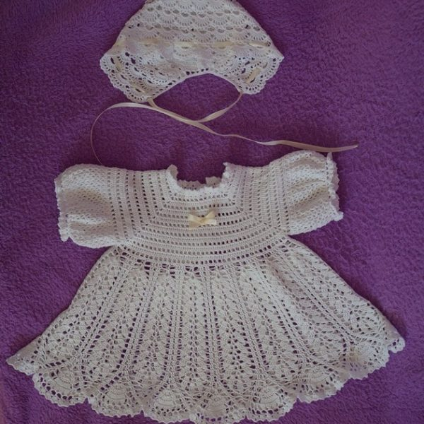 платье для крещения девочки чепчик детский
